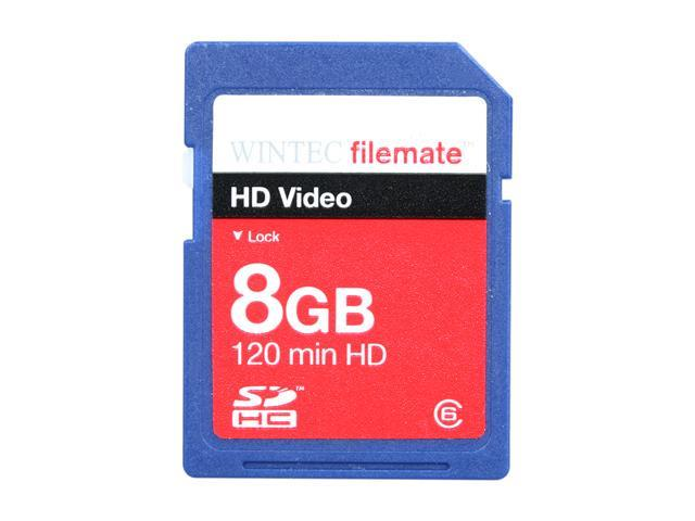 Wintec FileMate HD Video 8GB Secure Digital High-Capacity (SDHC) Flash Card Model 3FMSD8GBC6-R