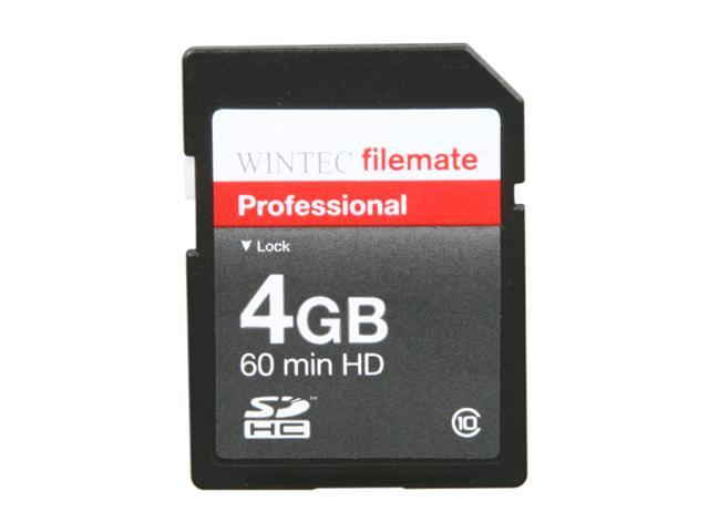 WINTEC FileMate 4GB Professional Class 10 Secure Digital SDHC Card - Retail