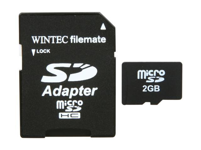 WINTEC FileMate 2GB Class 2 microSD Card with SD Adapter - Retail