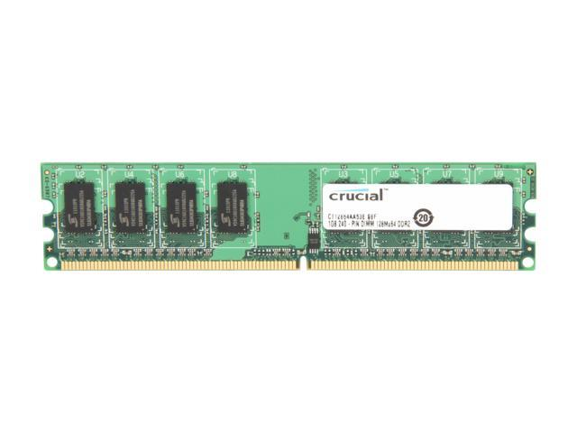 Crucial 1GB 240-Pin DDR2 SDRAM DDR2 533 (PC2 4200) System Memory Model CT12864AA53E