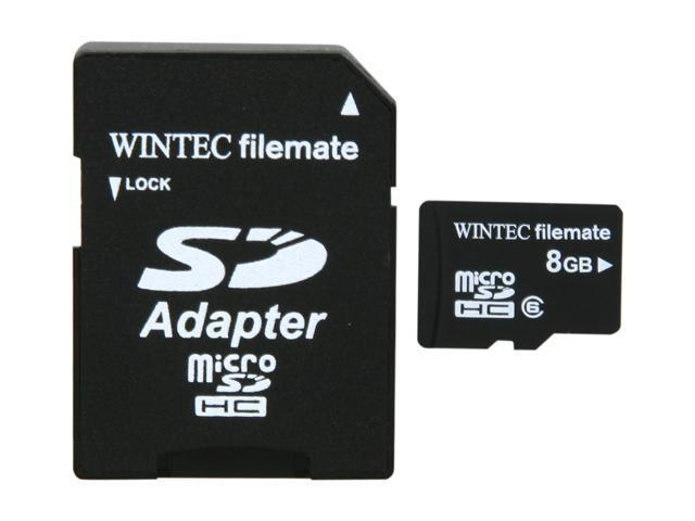 WINTEC FileMate 8GB Mobile Media Class 6 microSDHC Card with SDHC Adapter - Retail