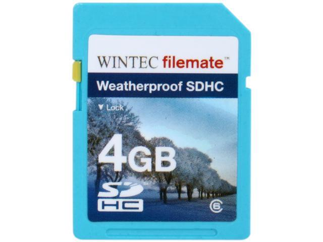 Wintec Filemate 4GB Secure Digital High-Capacity (SDHC) HD Video  Weatherproof Card  (Blue) Model 3FMSD4GBC6WBL-R