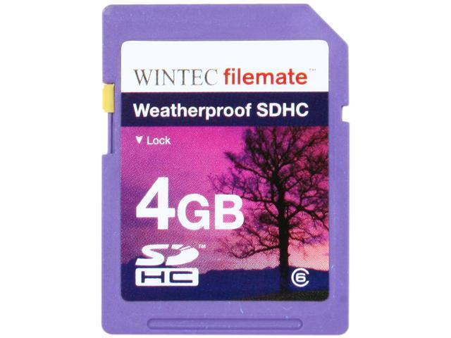 Wintec Filemate 4GB Secure Digital High-Capacity (SDHC) HD Video  Weatherproof Card  (Purple) Model 3FMSD4GBC6WPU-R