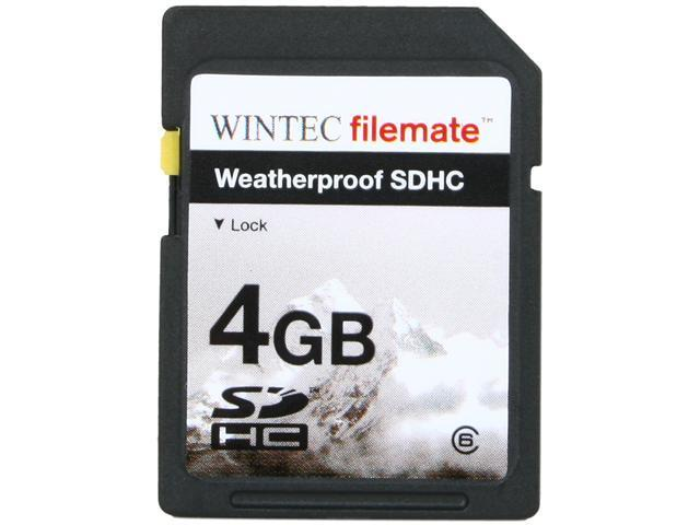 Wintec Filemate 4GB Secure Digital High-Capacity (SDHC) HD Video  Weatherproof Card  (Black) Model 3FMSD4GBC6W-R