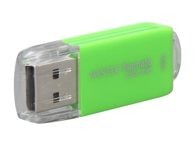 Wintec FileMate Color Mini 16GB USB 2.0 Flash Drive (Green)