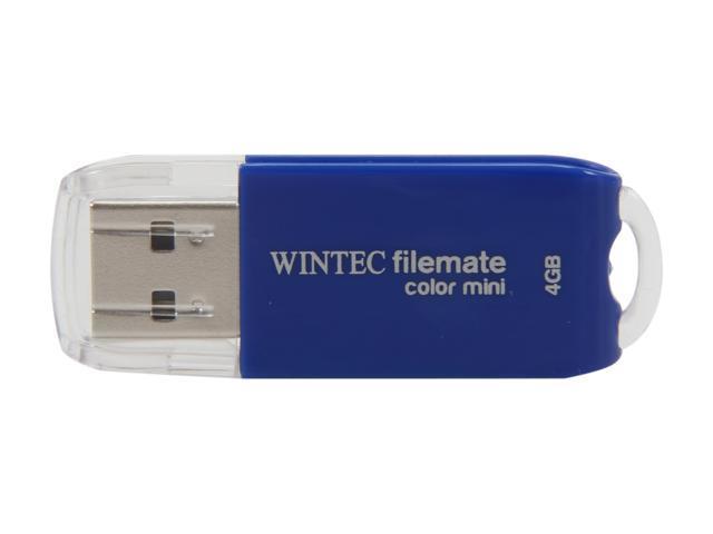 Wintec FileMate Color Mini 4GB USB 2.0 Flash Drive (Blue) Model 3FMSP01U2BL-4G-R