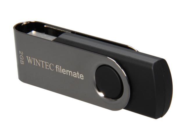 Wintec Filemate Swivel 2GB USB 2.0 Flash Drive (Silver) Model 3FMUSB2GWB-R