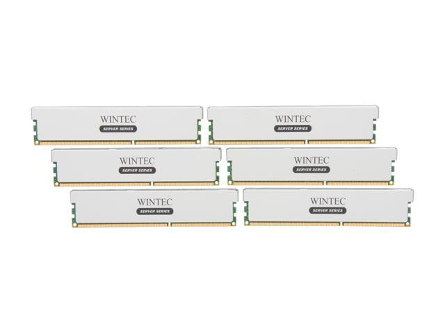 Wintec 48GB (6 x 8GB) 240-Pin DDR3 SDRAM ECC Registered DDR3 1333 (PC3 10666) Server Memory Model 3RSH13339R5H-48GH