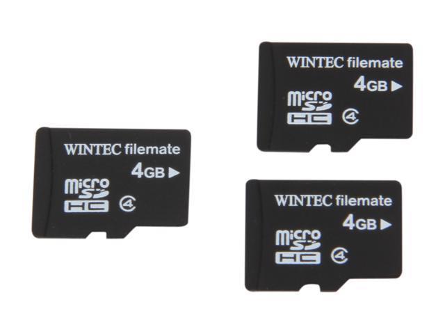 Wintec FileMate 12GB (4GB x 3) microSDHC Flash Card Model 3FMUSD4GB-3PK