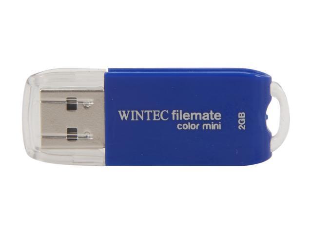 Wintec FileMate Color Mini 2GB USB 2.0 Flash Drive (Blue) Model 3FMSP01U2BL-2G-R