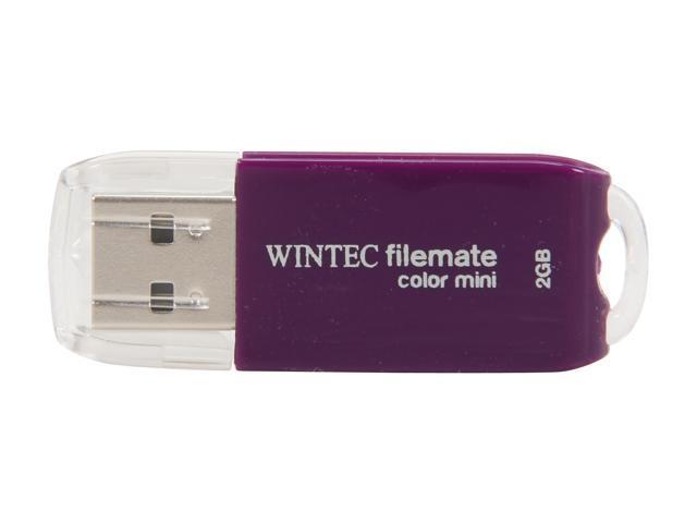Wintec FileMate Color Mini 2GB USB 2.0 Flash Drive (Purple) Model 3FMSP01U2PU-2G-R