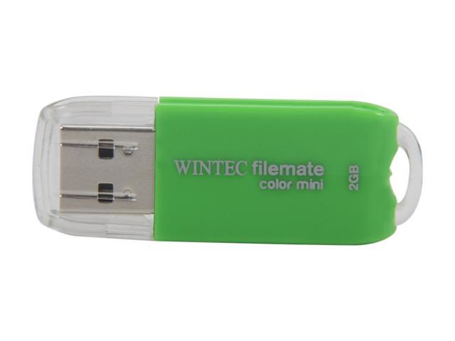 Wintec FileMate Color Mini 2GB USB 2.0 Flash Drive (Green) Model 3FMSP01U2GN-2G-R