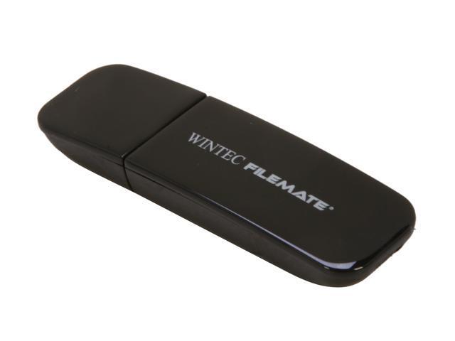 Wintec FileMate Contour 2GB USB 2.0 Flash Drive (Black) Model 3FMSP03U2BK-2G-R