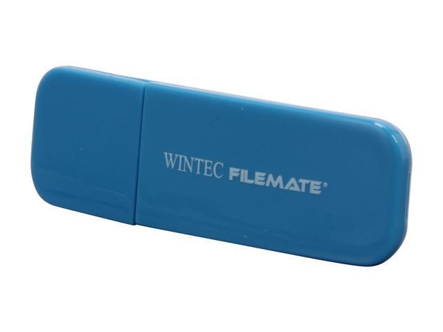 Wintec FileMate Contour 4GB USB 2.0 Flash Drive (Blue) Model 3FMSP03U2BL-4G-R