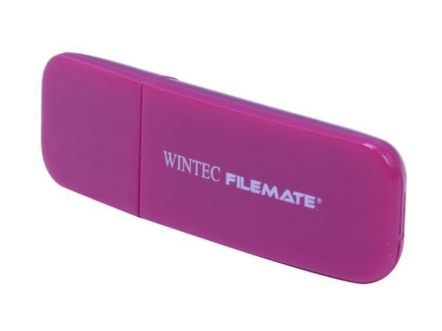 Wintec FileMate Contour 16GB USB 2.0 Flash Drive (Magenta)