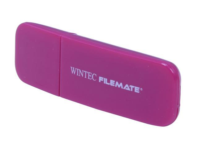 Wintec FileMate Contour 2GB USB 2.0 Flash Drive (Magenta) Model 3FMSP03U2MG-2G-R