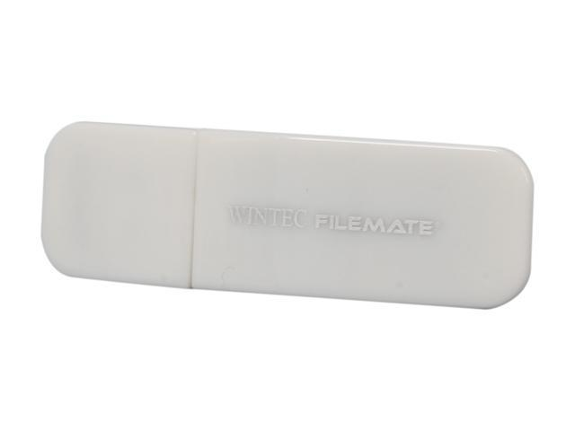 Wintec FileMate Contour 8GB USB 2.0 Flash Drive (White) Model 3FMSP03U2WH-8G-R