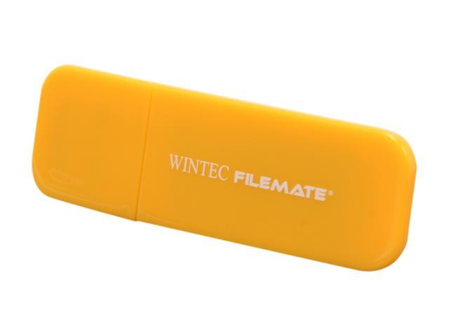 Wintec FileMate Contour 16GB USB 2.0 Flash Drive (Tangerine) Model 3FMSP03U2YL-16G-R