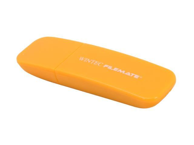 Wintec FileMate Contour 4GB USB 2.0 Flash Drive (Tangerine) Model 3FMSP03U2YL-4G-R
