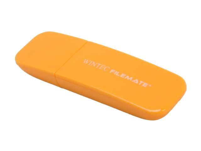 Wintec FileMate Contour 2GB USB 2.0 Flash Drive (Tangerine)