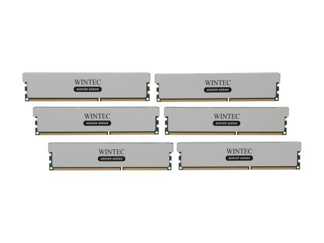 Wintec 48GB (6 x 8GB) 240-Pin DDR3 SDRAM ECC Registered DDR3 1600 (PC3 12800) Server Memory Model 3RSH160011R5H-48GH