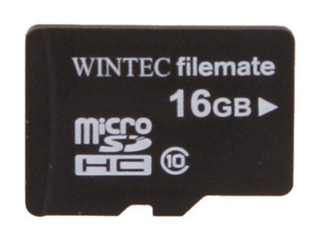 Wintec FileMate Mobile Professional 16GB microSDHC Flash Card Model 3FMUSD16GC10-SR