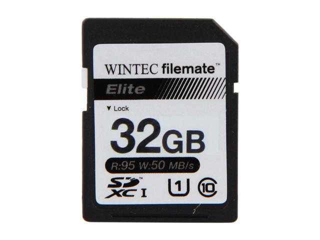 Wintec Filemate Elite 32GB Secure Digital High-Capacity (SDHC) Flash Card Model 3FMSD32GBU1E-R