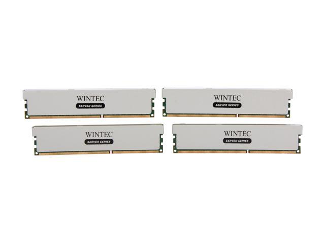 Wintec Server Series 64GB (4 x 16GB) 240-Pin DDR3 SDRAM ECC Registered DDR3 1333 (PC3 10600) Server Memory Model 3RSH13339R5H-64GQ