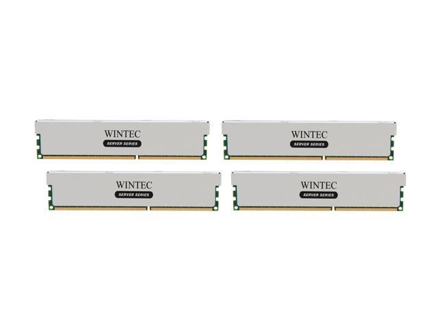 Wintec Server Series 64GB (4 x 16GB) 240-Pin DDR3 SDRAM ECC Registered DDR3 1600 (PC3 12800) Server Memory Model 3RSL160011R5H-64GQ