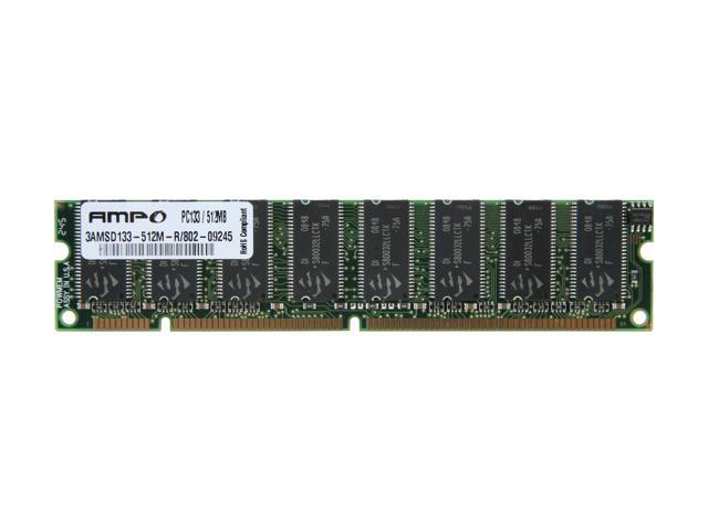 Wintec AMPO 512MB 168-Pin SDRAM PC 133 Desktop Memory Model 3AMSD133-512M-R
