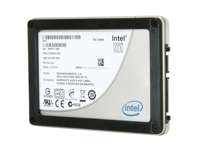 "Intel X25-M Mainstream 2.5"" 160GB SATA II MLC Internal Solid State Drive (SSD) SSDSA2M160G2XXX - OEM"