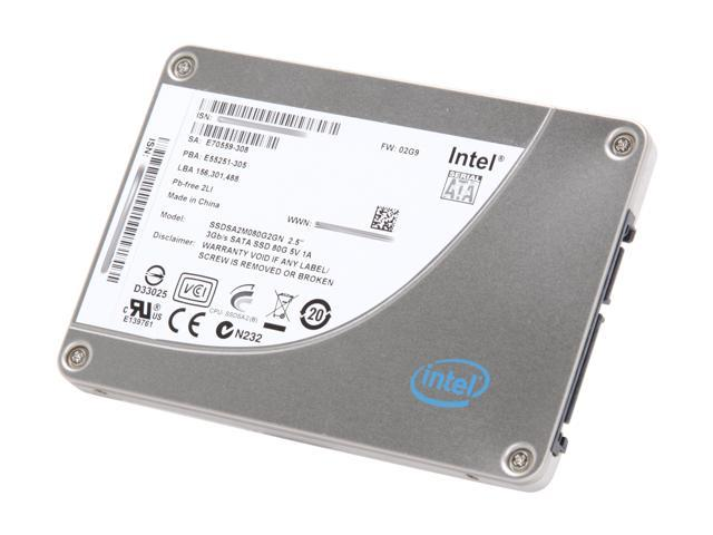 "Intel X25-M Mainstream 2.5"" 80GB SATA II MLC Internal Solid State Drive (SSD) SSDSA2M080G201 - OEM"