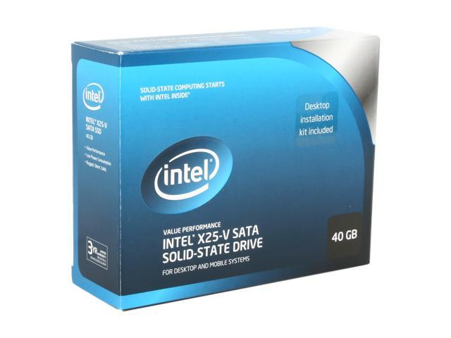 "Intel X25-V 2.5"" 40GB SATA II MLC Internal Solid State Drive (SSD) SSDSA2MP040G2K5"