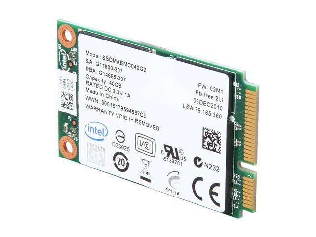 Intel 310 Series SSDMAEMC040G2C1 mSATA 40GB mSATA (mini PCIe form factor) MLC Enterprise Solid State Disk - OEM