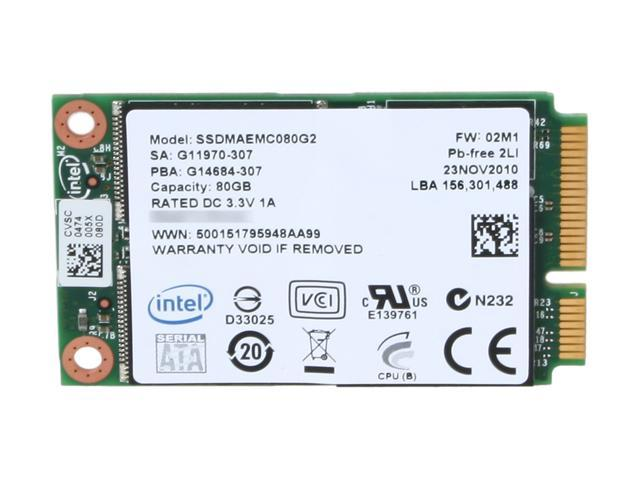Intel 310 Series SSDMAEMC080G2C1 mSATA 80GB mSATA (mini PCIe form factor) MLC Enterprise Solid State Disk - OEM
