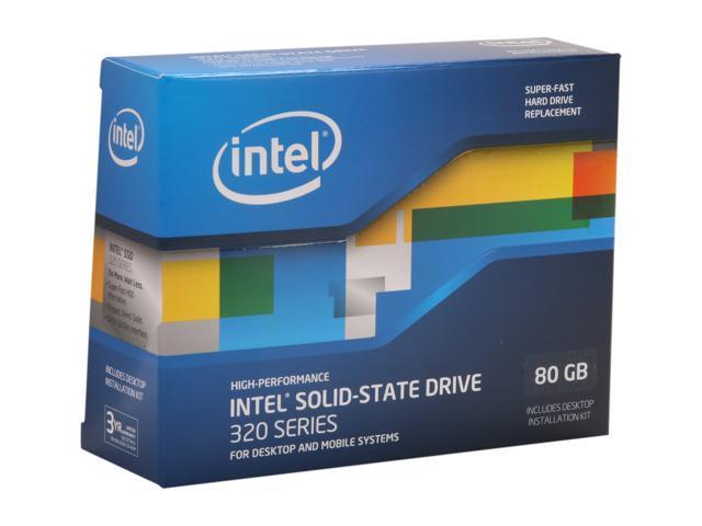 """Intel 320 Series 2.5"""" 80GB SATA II MLC Internal Solid State Drive (SSD) SSDSA2CW080G3K5"""
