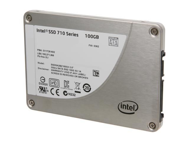"Intel 710 Series ( Lyndonville) 2.5"" SATA II eMLC SSDSA2BZ100G301 - OEM"