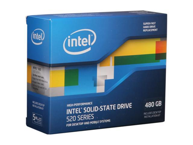 """Intel 520 Series Cherryville 2.5"""" 480GB SATA III MLC Internal Solid State Drive (SSD) SSDSC2CW480A3K5"""