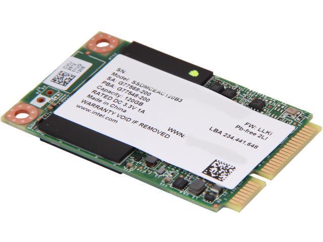 Intel 525 Series 120GB Mini-SATA (mSATA) MLC Internal Solid State Drive (SSD) SSDMCEAC120B301  - OEM