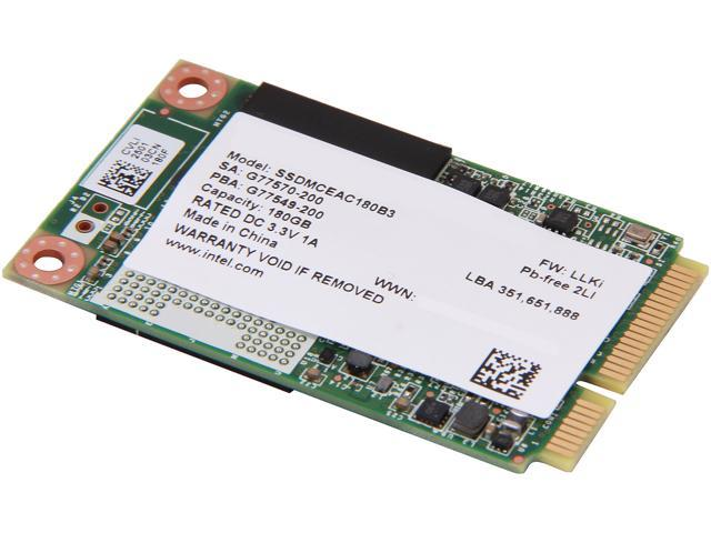 Intel 525 Series 180GB Mini-SATA (mSATA) MLC Internal Solid State Drive (SSD) SSDMCEAC180B301  - OEM