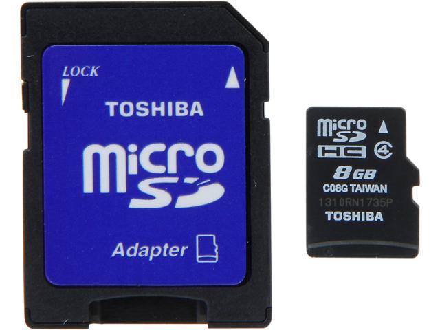 Toshiba 8GB microSDHC Flash Card Model PFM008U-1DAK