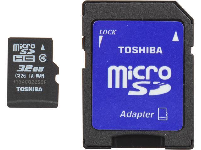 Toshiba 32GB microSDHC Flash Card Model PFM032U-1DAK