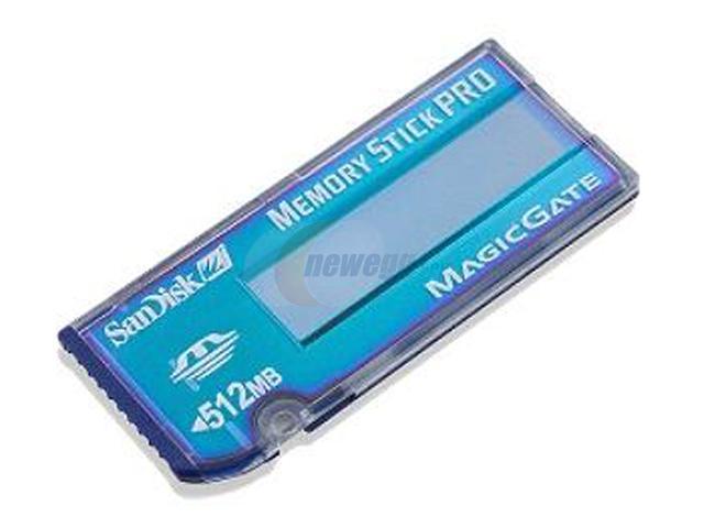 SanDisk 512MB Memory Stick PRO - Value Line Flash Card Model SDMSV512A10