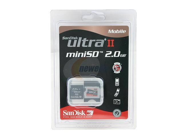 SanDisk Ultra II Mobile 2GB MiniSD Flash Card Model SDSDMU-2048-A10M