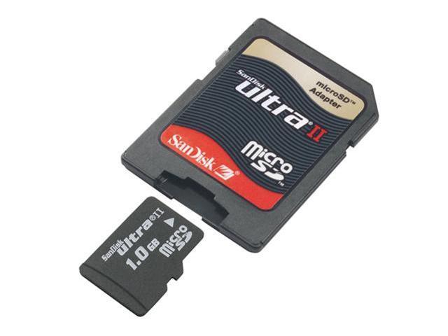 SanDisk Ultra II 1GB MicroSD Flash Card Model SDSDQU-1024-A10M
