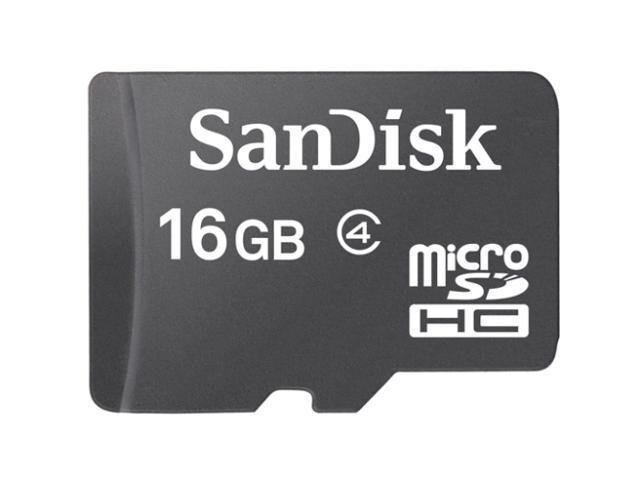 SanDisk 16GB microSDHC Flash Card Model SDSDQ-016G-A11M
