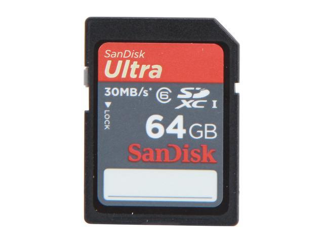 SanDisk Ultra 64GB Secure Digital Extended Capacity (SDXC) Flash Card Model SDSDRH-064G-A11