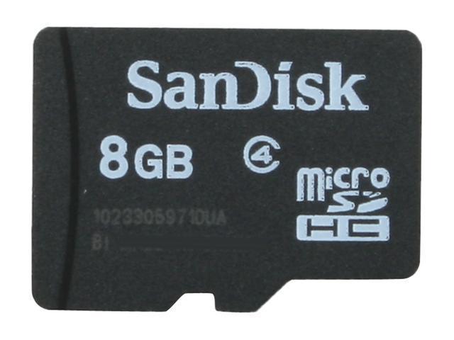 SanDisk 8GB microSDHC Mobile Memory Card Model SDSDQ-8192-P36M