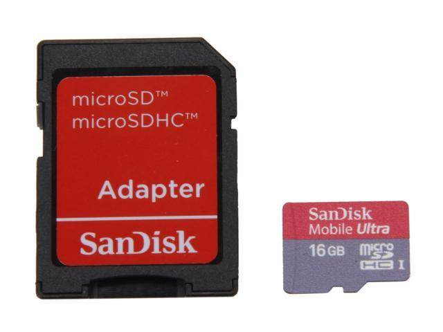 SanDisk Mobile Ultra 16GB microSDHC Flash Card Model SDSDQY-016G-A11A