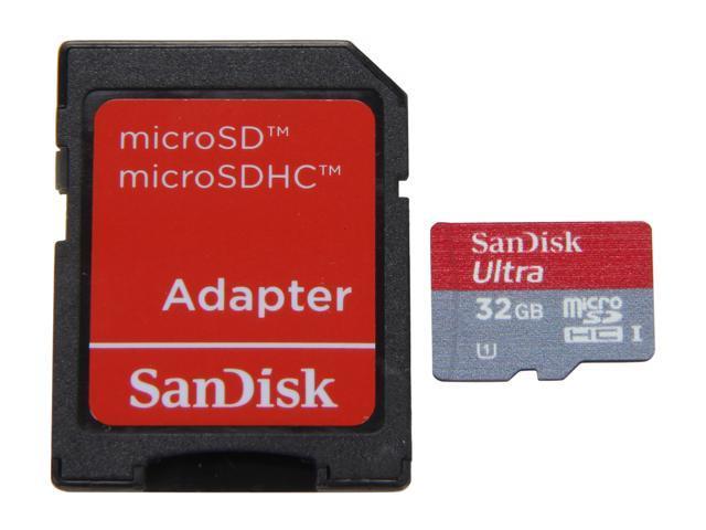 SanDisk Ultra UHS-I 32GB microSDHC Flash Card Model SDSDQUI-032G-A11
